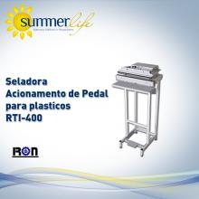 Seladora Acionamento de Pedal para plasticos RTI-400